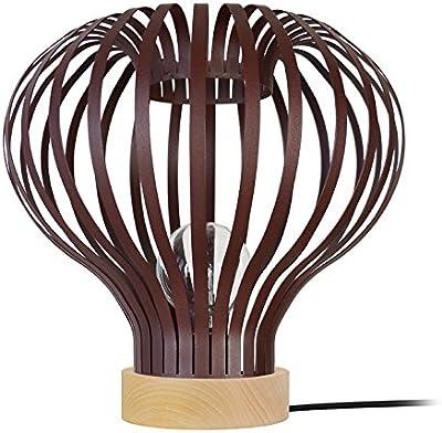 Tosel 65050lámpara de mesa 1luz, acero, E27, 40W, marrón, 34x 33cm)