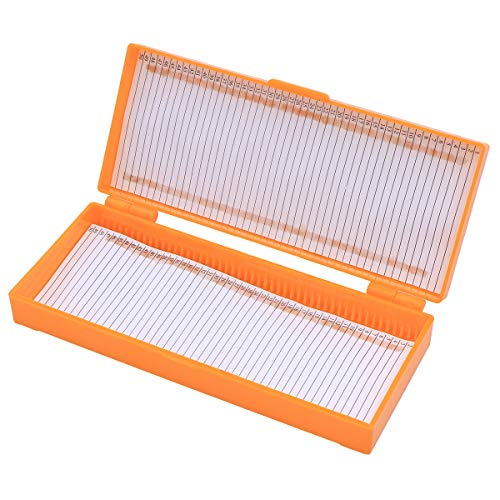 STOBOK 50 Grid Slide Box Microscope Slide Storage Box Slide Capacity Box