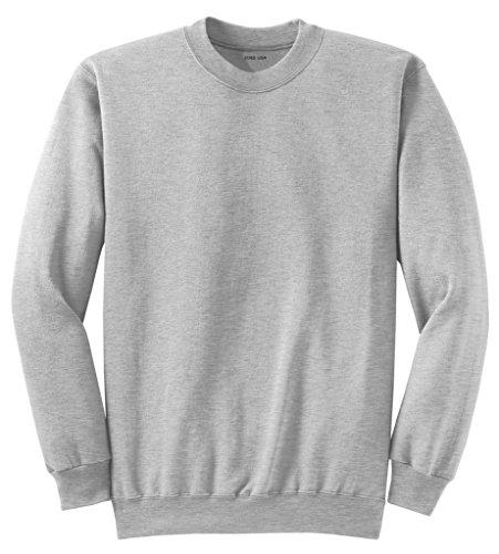Joe's USA Adult Classic Crewneck Sweatshirt, L -Ash