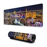 Alfombrilla de ratón Las Vegas Alfombrilla de ratón para Juegos XL Alfombrilla de ratón Grande extendida Alfombrilla de Escritorio Base de Goma Antideslizante Larga 30x80cm