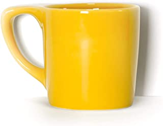 notNeutral LINO 10 oz Porcelain Coffee Mug - Canary Yellow | Single Mug | Ergonomic | Unique Coffee Mug | For Use at Home and Coffee Shops