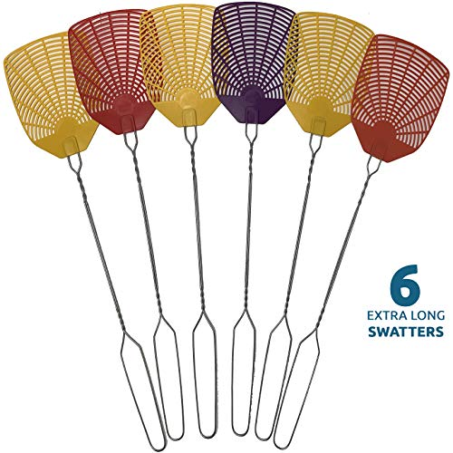 top 10 fly swatters W4W Flyswatter and Flyswatter – Long Handle, 6 Sets of Flyswatter – Indoor / Outdoor – Pest Control…