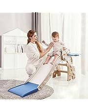 HAPPYMATY Tobogán infantil para niños pequeños, plegable, con dinosaurios, para bebés a partir de 10 meses, 115 cm