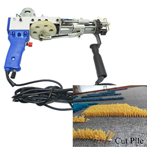 MXBAOHENG Cut Pile Rug Tufting Gun Electric Carpet Weaving Machine Cut Pile Flocking Machine Knitting Machine 9-21mm 110V-220V