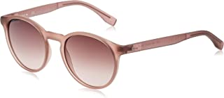Lacoste Round Sport Inspired Transparent Nude Sunglasses For Women 52-19-140mm