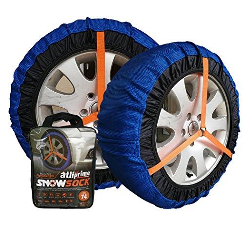 atliprime Tejido cadena de nieve textil cadenas de los neumáticos auto nieve calcetín para SUV/4x 4/Camión de luz