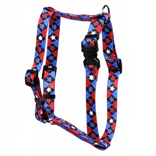 Yellow Dog Design American Argyle Roman Style H Dog Harness Fits Chest of 8 to 14