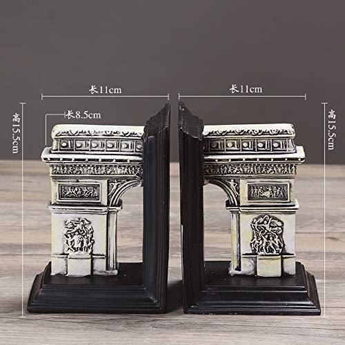 Estatuas Adornos Libro Creativo Roma Antigua Arquitectura Sujetalibros Retro Arco del Triunfo Librería Estudio Escritorio Decoración Decoración Regalo Arco del Triunfo