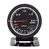 Boost Gauge, Yctze Universal 60mm LED Turbo Boost Gauge Kit Black Shell Replacement For Auto Racing Car 0-200 Kpa for dyno racing 18 in one boost gauge boost turbo boost gauge reloj presion turbo turb
