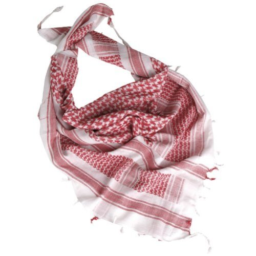 Tactical Shemagh Army Scarf Military Shermag Head Wrap Patrol Keffiyeh White Red by Mil-Tec