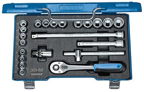 "GEDORE D 30 HMU-10 Steckschlüssel-Satz 3/8"" 22-TLG UD-Profil 6-22 mm, Zoll/6-22 mm"