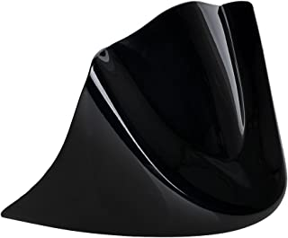 Astra Depot Set Glossy Black Air Fairing Mudguard Front Chin Spoiler Cover + Metal Bracket Compatible with 2006-2017 Harley Dyna