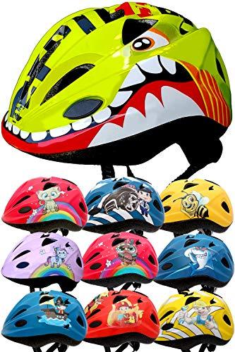 SkullCap® Casco Niño Bicicleta diseñado por los niños, C