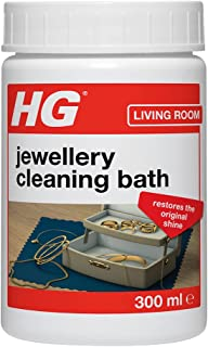 HG Jewellery Cleaning Bath, For Gold & Silver Fine Dress Jewellery, Gentle Easy To Use Cleaner Kit Restores Shine & Sparkl...