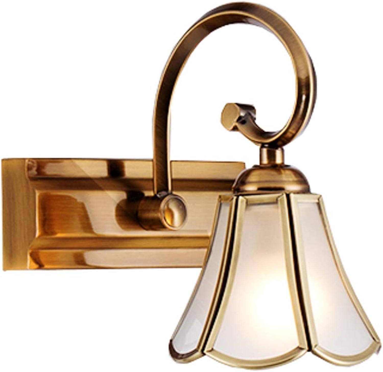 Spiegelleuchte LED Badezimmerspiegelschranklampe, Schminktisch European Makeup Lamp Spiegellampe Beleuchtung zu Hause A+ (gre   Single -head)
