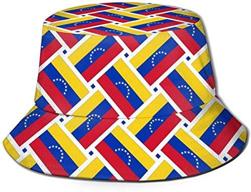 zhouyongz Sun Hat Venezuela Flag Weave Bucket Cap UV Sun Protection Fisherman