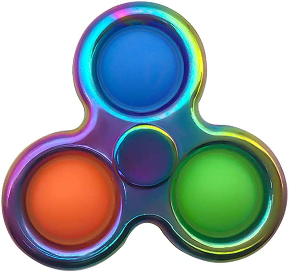 Pure Compression Popping Up Bubble Fidget Sensory Spinner Toy - Simple Fidget Dimple Toy - Anxiety Relief Extrusion Push Pop It Up Bubble Flipping Spinner - Hand Finger Fidget Spinner Toy