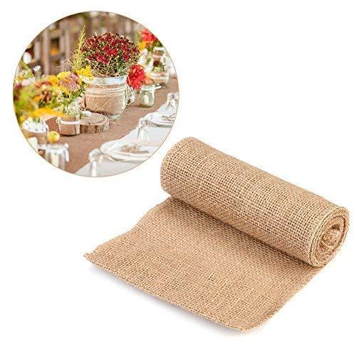 Tela arpillera para tapicería Estilo de la Naturaleza de la Vendimia, Arpillera de la Tela de Lino, arpillera para la decoración de hogar (15cm*2m)