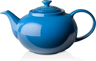 Le Creuset PG0328-0059 Enameled Stoneware Traditional Teapot, 1.4 quart, Marseille