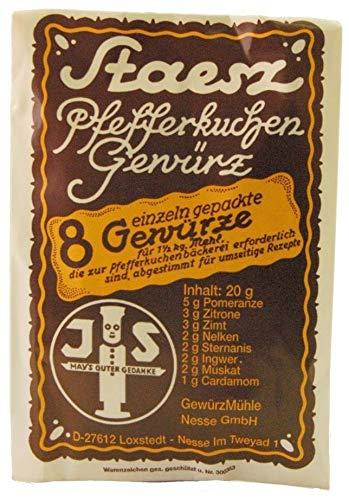 (6,25€/100g) Staesz Pfefferkuchengewürz 20g + 100g Hirschornsalz Treibmittel
