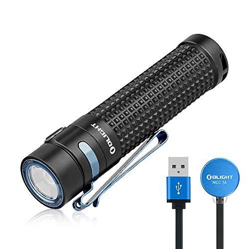 Olight S2R Baton II Linterna LED Potente Lámpara de Mano Linterna Recargable USB, Luz Portátil de 1150 Lúmenes,135 Metros,Ideal para Paseos , Senderismo, Camping