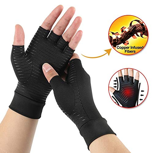 JADE KIT Copper Infused Arthrose Handschuhe, Arthritis Kompressions-Handschuhe zur Schmerzlinderung bei Rheumatoide, Karpaltunnel, Sehnenentzündung【S】