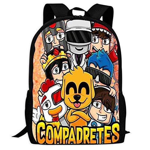 Hengtaichang Pre-Ston Fire Nation Playz Gamer Flame Backpack Boys Girls 3D Fashion Rucksack School Shoulder Bag