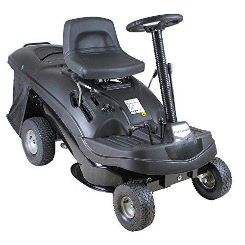Home Deluxe - Benzin Aufsitzrasenmäher - Reaper Schwarz - Motor Leistung 4,5 kW (6,5 PS) - 150 Liter Auffangkorb - 61 cm Schnittbreite und höhenverstellbar - Inkl. kompl. Zubehör