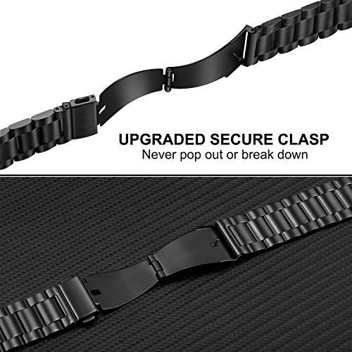 TRUMiRR Kompatibel für Galaxy Watch3 45mm Metall Armband, Keine Lücke Solider Edelstahl Metall Ersatz Uhrenarmband Bracelet Strap Band für Samsung Galaxy Watch 3 45mm