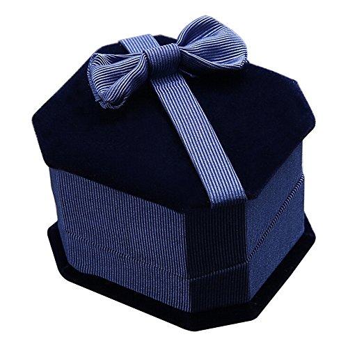 Preisvergleich Produktbild Sanwood Box Schmuckkästchen Schmuckbox Geschenkbox für Ring Ohrring Schmuck (Saphirblau)