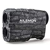 AILEMON 6X Laser Range Finder Rechargeable for Hunting Bow Rangefinder Distance Measuring Outdoor Wild 650/1200Y with Slop Flaglock High-Precision Continuous Scan (CAMO1)