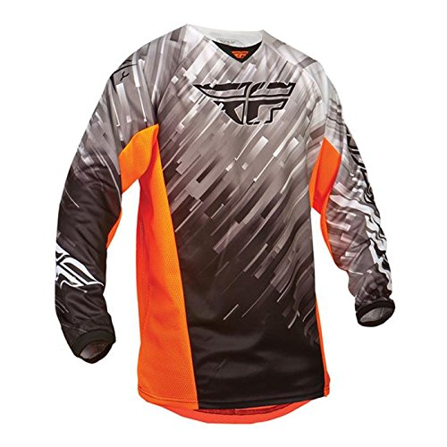 Fly 2015 Motocross / MTB Jersey - Kinetic Glitch - schwarz-weiß-orange: Größe Jersey: M