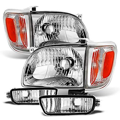 ACANII - For 2001-2004 Toyota Tacoma Headlights+Corner Parking Signal Lights+Bumper Lamps Driver + Passenger Side