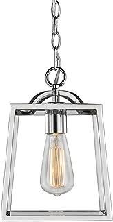 Golden Lighting 3074-1P CH Athena Mini Pendant, Chrome