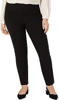 Alfani Plus Size Velvet-Stripe Pull-On Pants in Deep Black