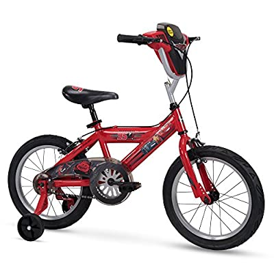 "Huffy 16"" Disney/Pixar Cars Boys Bike with Lights and Sounds Shield, Red"