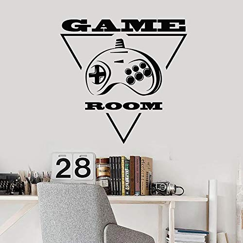 Jugador pared calcomanía joystick máquina geometría sala de juegos niños niño dormitorio sala de juegos decoración del hogar vinilo adhesivo mural