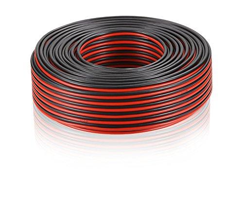 MANAX® Lautsprecherkabel 2 x 2,5mm² rot/schwarz 25,0 m Ring