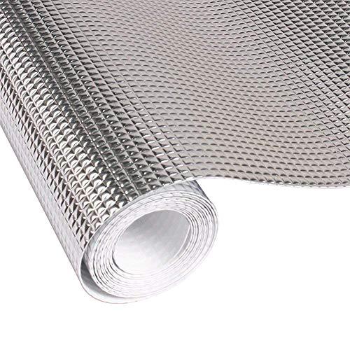 Contever Küche Schrankpapier No-Adhesive Schubladenmatte, Eva Wasserdicht Kühlschrankmatten Öl Beweis Aluminiumfolie Regal Liner Antirutschmatten Größe - (118 * 23.6 Zoll)