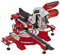 Einhell draglockssågenSåg TC-SM 216 (1 600 W, x 216 x 30 mm sågblad, 30,5 cm/21,5 cm skärbredd 90°/45°, snabbjusterings roterande bord, nyhet 2020, spindel-lås, inkl. karbidsågblad)