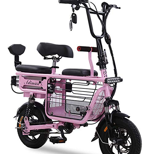 Buy Unisex Electric Bike 48V 400W Dual Suspension Hybrid Bike 12 inch Ebike with Disc Brakes and Sus...