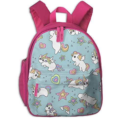 Kinderrucksack für Mädchen, Rainbow Ponies_5454 - Amber_Morgan, Für Kinderschulen Oxfordstoff (pink)
