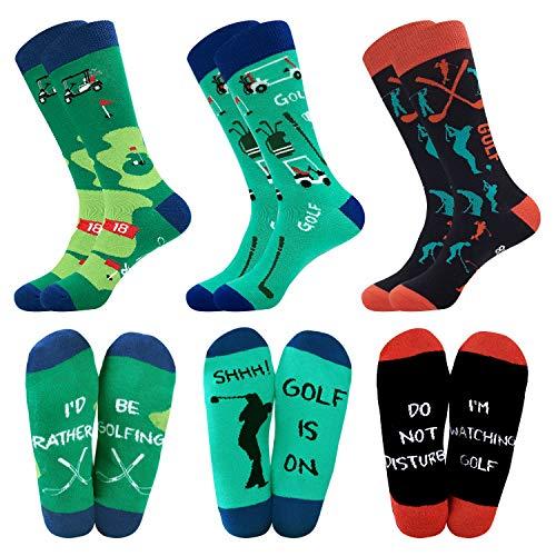 Belloxis Golf Geschenk Socken Herren Lustige Bunte Sneaker Socken Geschenke für Manner