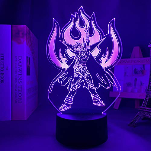 3D Anime - Luz nocturna LED de anime, diseño de guirnaldas y camina, para dormitorio, decoración, manga, regalo de cumpleaños o habitación