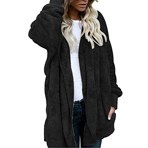 WOCACHI Hoodies for Womens, Women Winter Warm Coat Jacket Parka Outwear Ladies Cardigan CoatCarry Lipsticks Phones Pocket Money Side-Zip Stitching Raglan Sleeves Cozy Chill