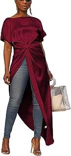Women Asymmetric Crop Tops Shirts Mesh High Neck Sleeveless Club Tanks Blouses