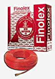 Finolex FR PVC Silver 1.00 SQ.MM Insulated Wire for Industrial & Domestic Use | Home Electric Wires | Red Color 90 Meter