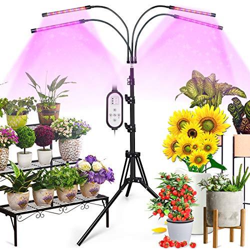ONEVEZ-Pflanzenlampe LED-Pflanzenlicht Wachstumslampe-Vollspektrum Pflanzenleuchte-Grow Lampe-Zimmerpflanzen - 40W mit 80 LEDs, mit 3 Arten von Modus, 6 Arten von Helligkeit mit Zeitschaltuhr