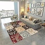 La Alfombra alfombras Entrada Marrón Amarillo Gris Alfombra geométrica Antideslizante no se desvanece la Sala de Estar habitacion Juvenil alfombras salón 200*300cm