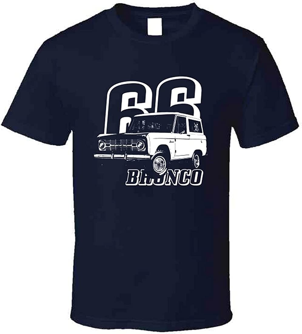 Ultra-Cheap Deals CarGeekTees 1966 Bronco Limited Special Price Three Quarter Angle View Year and with M